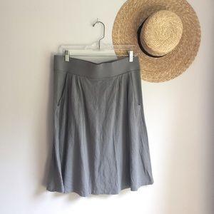 J. Crew gray knit knee length minimalist skirt